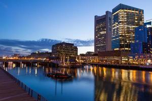 's nachts de straten van Boston foto