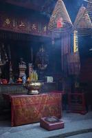 een Chinese tempel in Macao, Macau, China foto