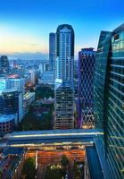 de skyline van de stedelijke stad, bangkok, thailand.