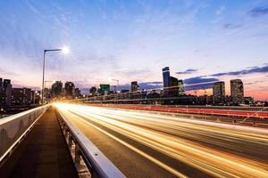 verkeer in seoul city foto