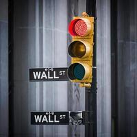 Wall Street teken, New York City, Verenigde Staten foto