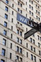 Wall Street teken foto