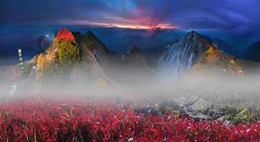 zonsopgangen op de top