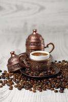 traditionele kopje Turkse koffie. foto