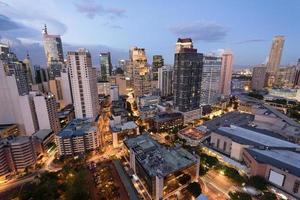 makati skyline (manilla - filipijnen) foto