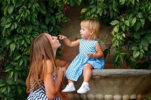 familie, moeder en dochter foto