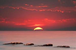 rode zonsondergang foto
