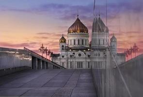 de tempel bij zonsondergang foto