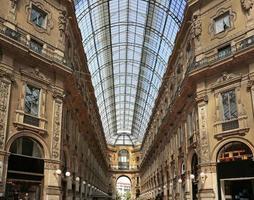 galleria vittorio emanuele ii, winkelgalerij, milaan, italië foto