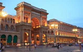 vittorio emanuele ii galerij in milaan, italië foto