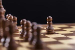 schaken, bord, te slim af foto
