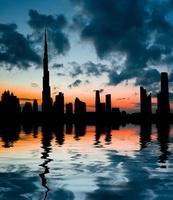 zonsondergang in Dubai foto