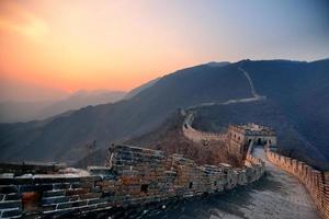 grote muur zonsondergang foto