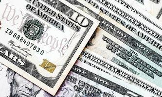 ons. dollarbiljetten achtergrond foto