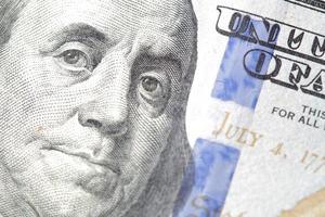 Benjamin Franklin over geld foto