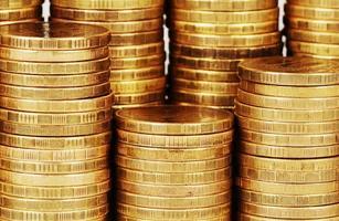 gouden geld stapel macro foto