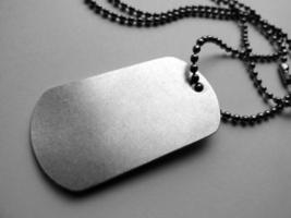 lege dog tag identificatie ketting