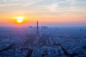 Eiffeltoren zonsondergang foto