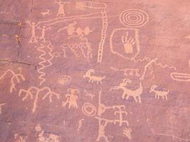 prehistorische rotsschildering foto