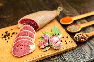 gedroogd eendenvlees foto