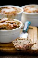plakken van eendenvlees. foto