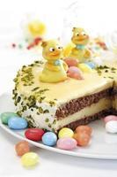 Pasen cake, close-up foto
