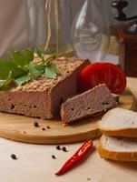 zelfgemaakte gebakken paté foto