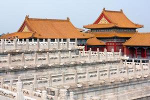 uitzicht vanaf de verboden stad - Peking, China foto