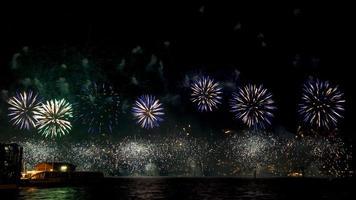 Australië dag vuurwerk foto