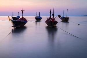 de vissersboot oude stijl foto