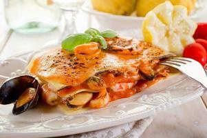 vis lasagne foto