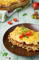 Italiaanse lasagne foto