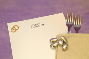 bruiloft menu foto