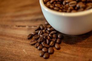 koffie op houten grunge achtergrond