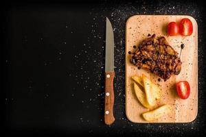 kip steak achtergrond / kip steak