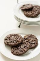 chocoladeschilfers en toffeekoekjes foto