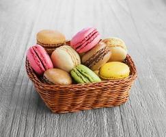 Franse macarons foto