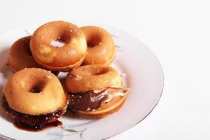 gevulde donuts foto