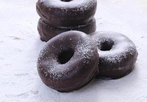 chocolade donuts foto