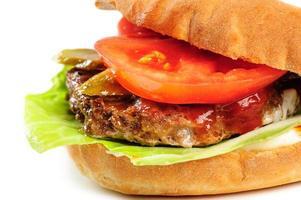 realistisch uitziend deel van hamburger foto