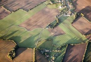 antenne van rurale landschap in hamburg foto