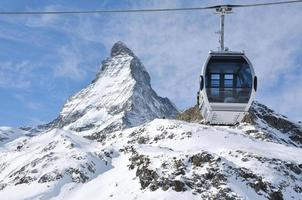de beroemde Zwitserse berg matterhorn foto