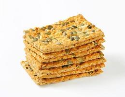 pompoenzaad cheddar crackers foto