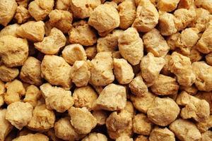 soja-eiwit brokken achtergrond foto
