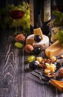 wijn en kaas foto
