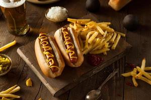 barbecue gegrilde hotdog foto