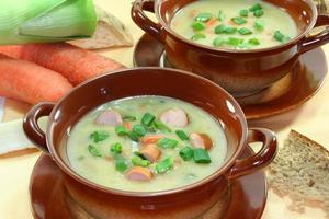 aardappel soep foto