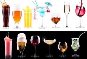 verschillende alcoholische dranken set foto