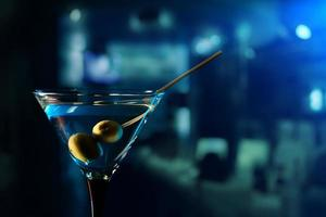 glas met martini foto