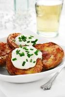 aardappel schillen foto